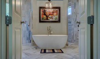 estilo mediterraneo en baño