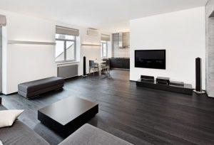 Casa con piso moderno