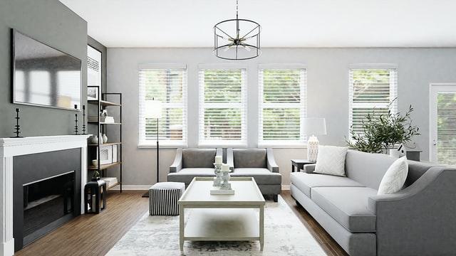 Color gris: tendencia en paredes